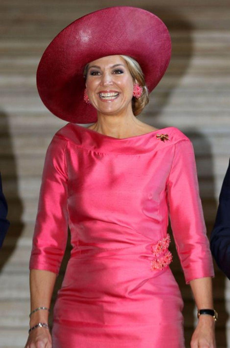 La reine Maxima des Pays-Bas à la Alte Pinakothek à Munich, le 13 avril 2016