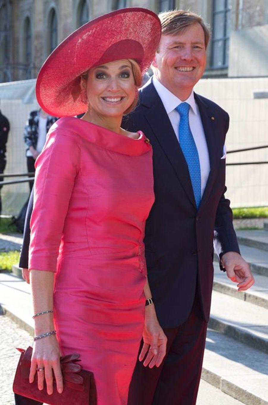 La reine Maxima et le roi Willem-Alexander des Pays-Bas à Munich, le 13 avril 2016