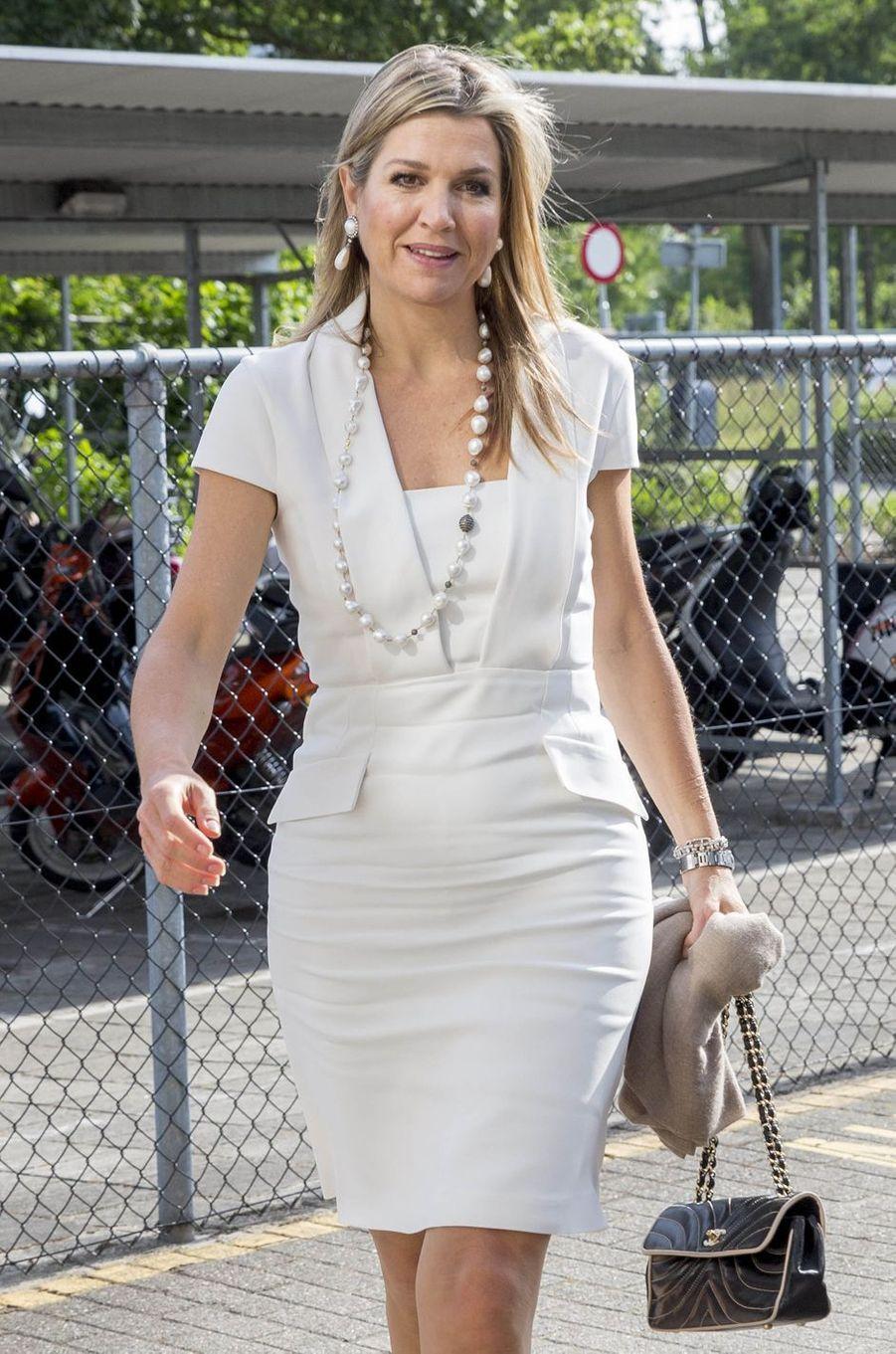 La reine Maxima des Pays-Bas à Eidhoven, le 8 juin 2016