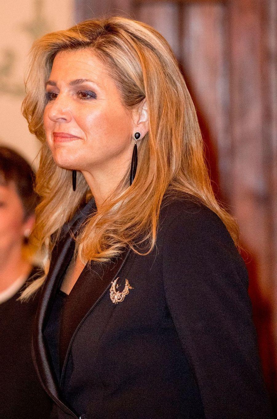 La reine Maxima des Pays-Bas en Allemagne le 7 février 2017