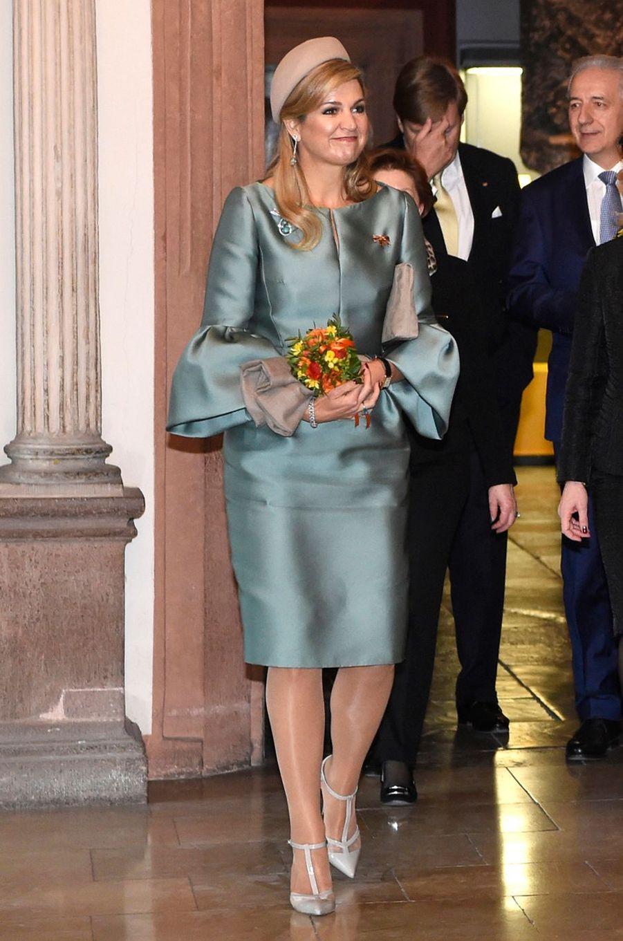 La reine Maxima des Pays-Bas en Allemagne le 9 février 2017