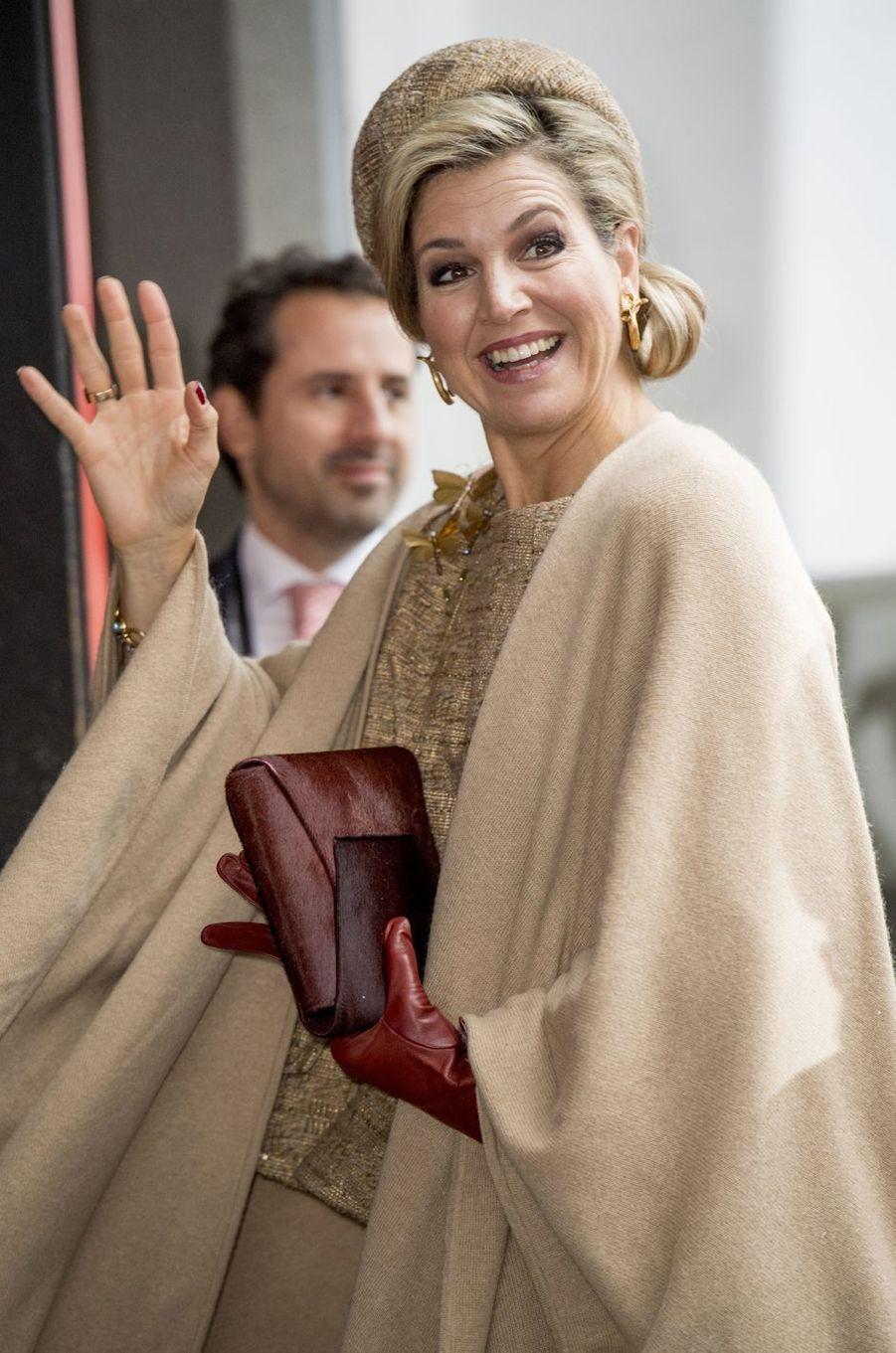 La reine Maxima des Pays-Bas en Allemagne le 10 février 2017