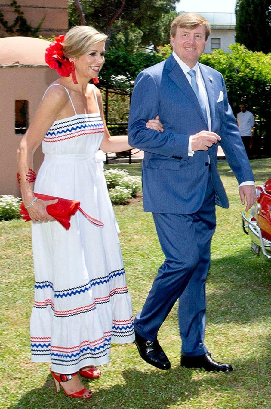 La reine Maxima des Pays-Bas à Milan, le 22 juin 2017