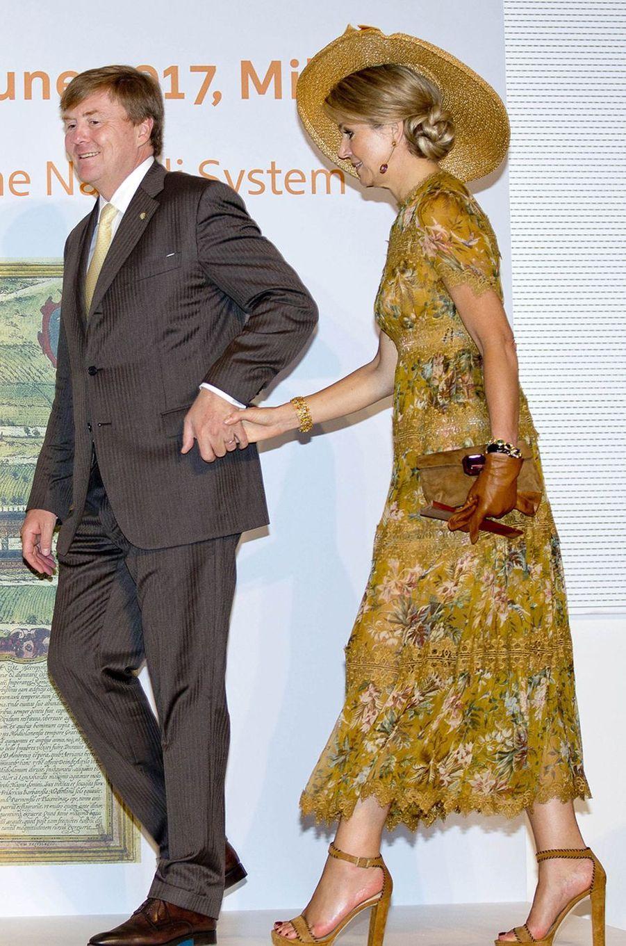 La reine Maxima des Pays-Bas à Milan, le 23 juin 2017