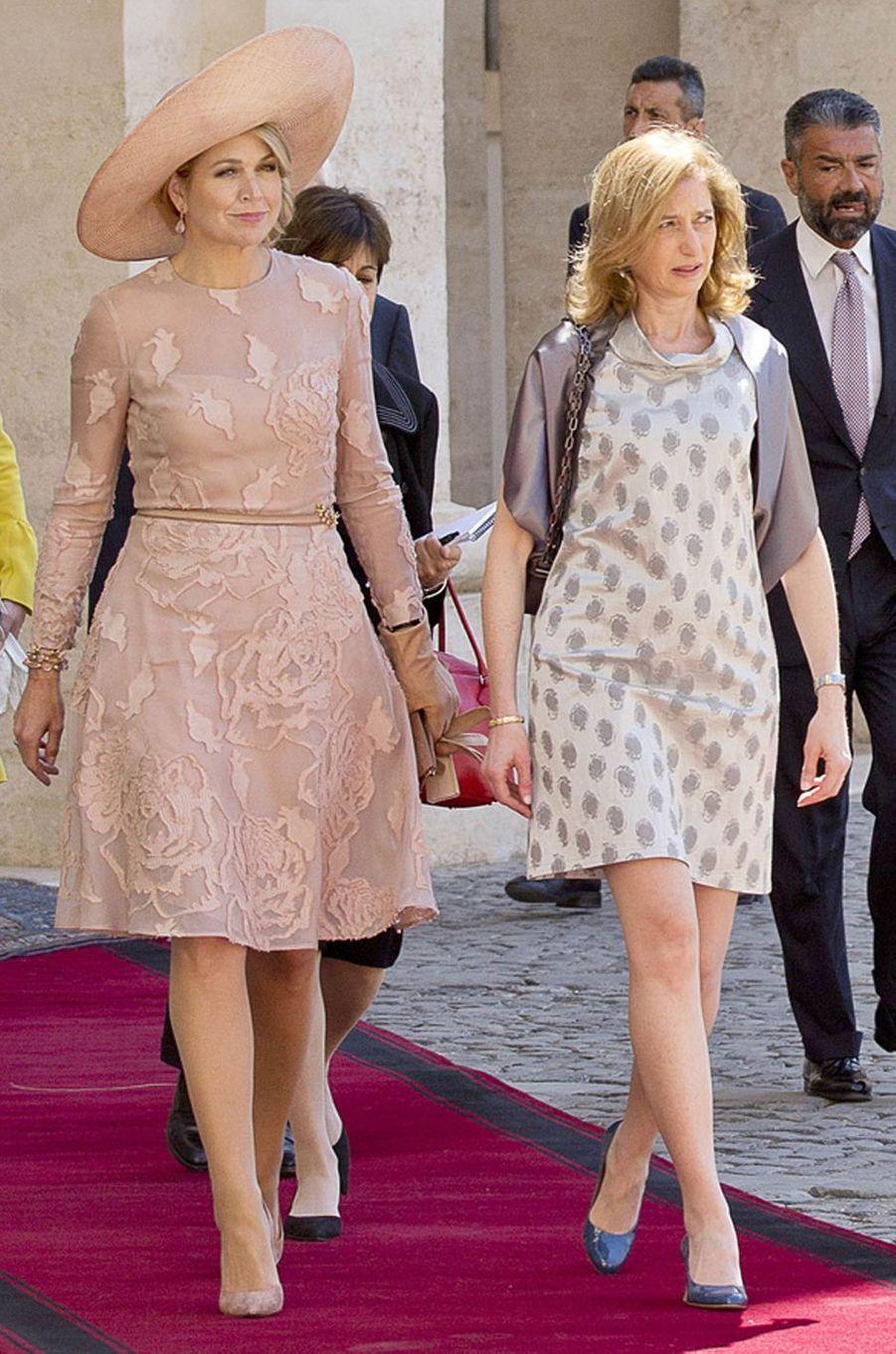 La reine Maxima des Pays-Bas, en Natan, à Rome, le 20 juin 2017