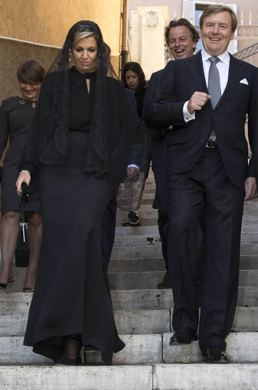 La reine Maxima des Pays-Bas au Vatican, le 22 juin 2017