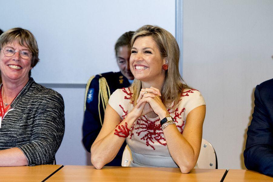 La reine Maxima des Pays-Bas à Amstelveen, le 13 septembre 2016
