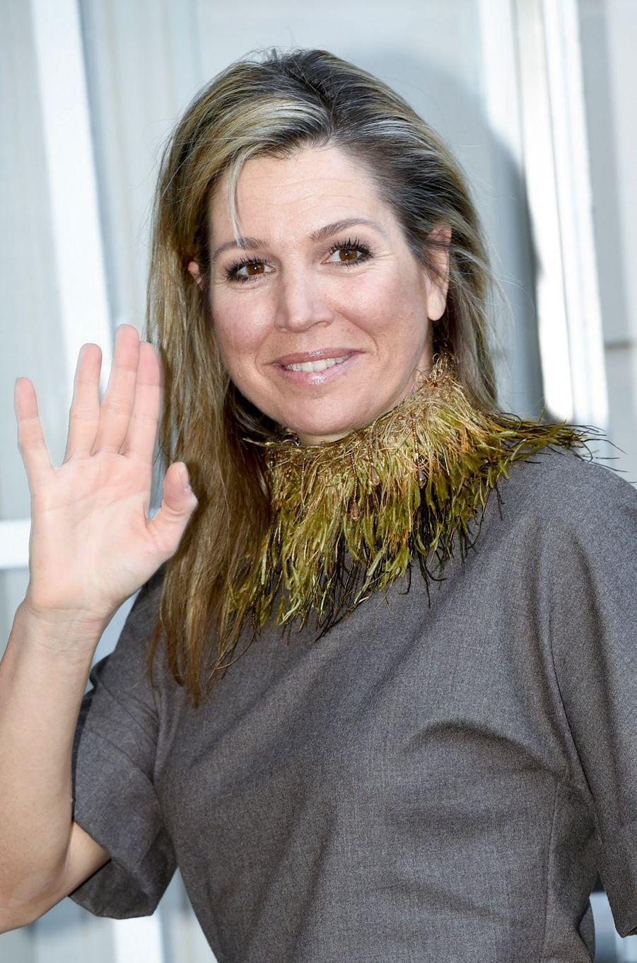 La reine Maxima des Pays-Bas à La Haye, le 12 mars 2018