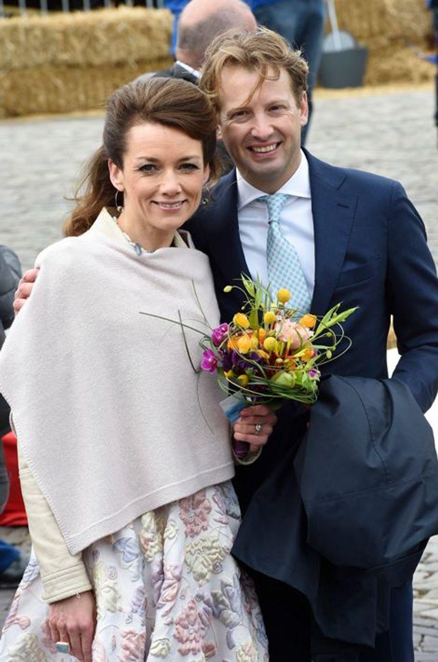 Le prince Bernhard et la princesse Annette des Pays-Bas à Zwolle, le 27 avril 2016
