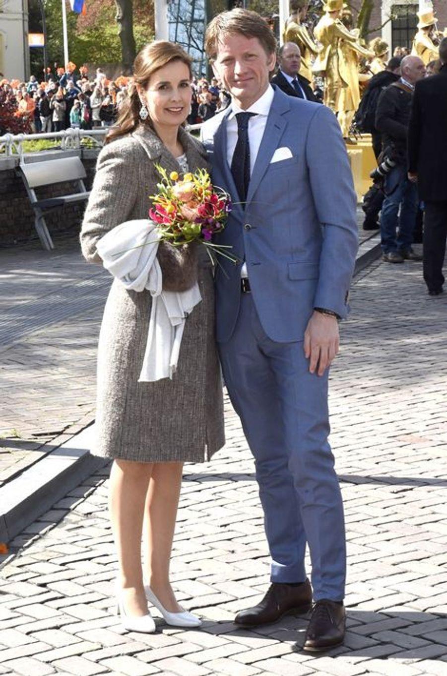 Le prince Floris et la princesse Aimée des Pays-Bas à Zwolle, le 27 avril 2016
