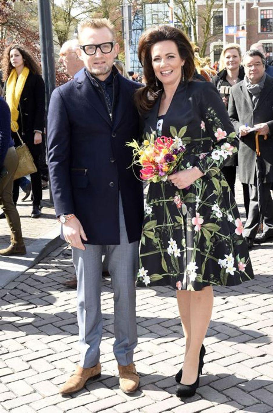 Le prince Maurits et la princesse Marilène des Pays-Bas à Zwolle, le 27 avril 2016