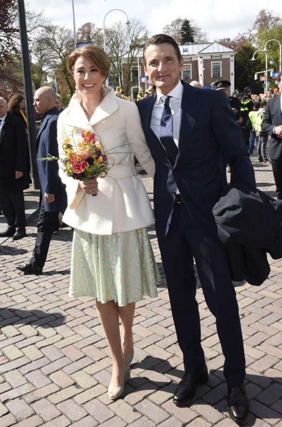 Le prince Pieter Christiaan et la princesse Anita des Pays-Bas à Zwolle, le 27 avril 2016