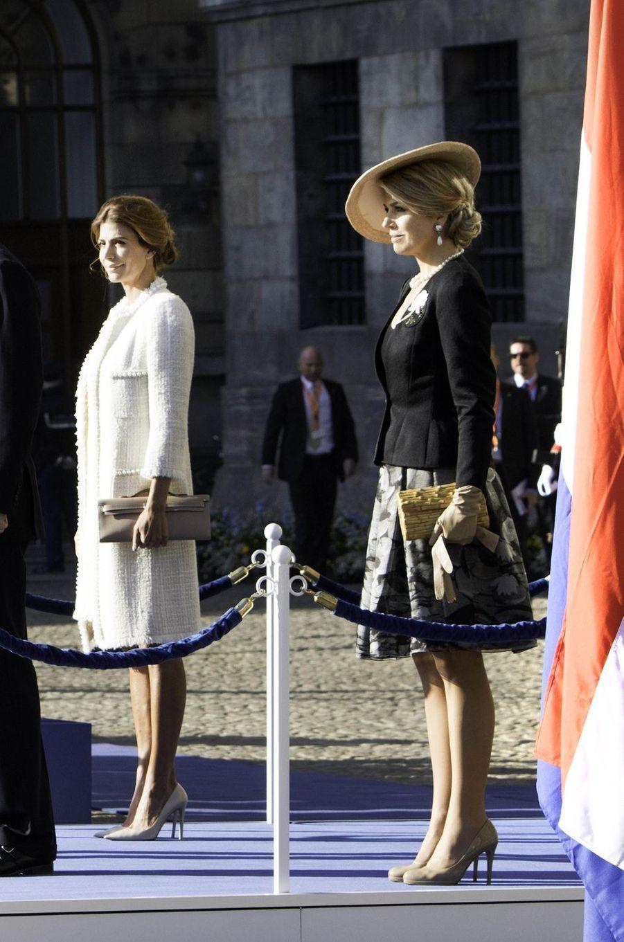 La reine Maxima des Pays-Bas et Juliana Awada à Amsterdam, le 27 mars 2017