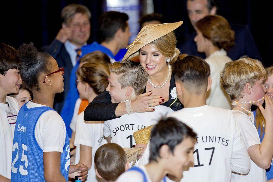 La reine Maxima des Pays-Bas à Amsterdam, le 27 mars 2017