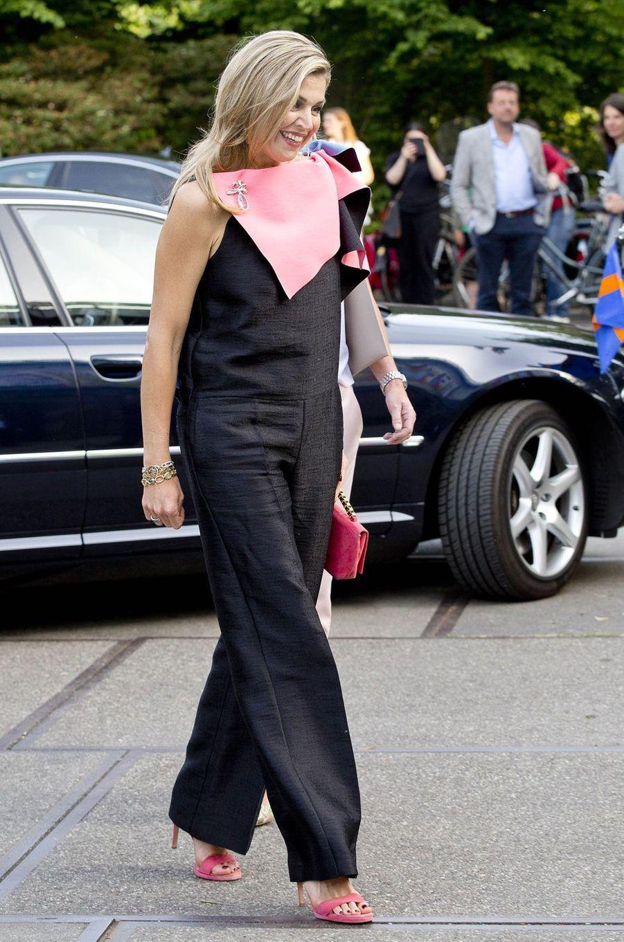 La reine Maxima des Pays-Bas en Roksanda à Amsterdam, le 3 juin 2017