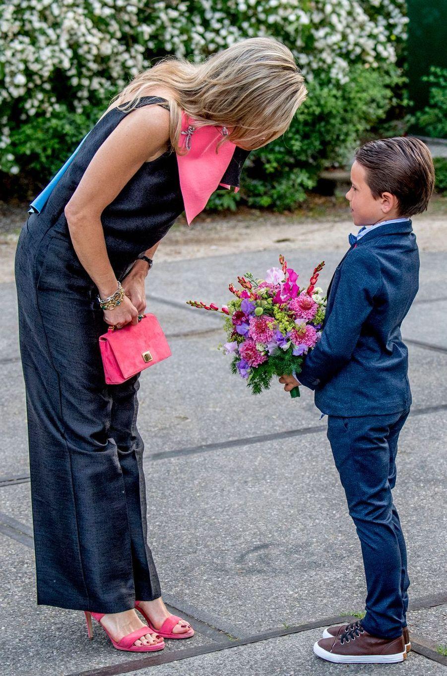 La reine Maxima des Pays-Bas à son arrivée au 70e Holland Festival à Amsterdam, le 3 juin 2017