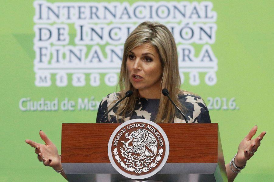 La reine Maxima des Pays-Bas au Mexique, le 21 juin 2016