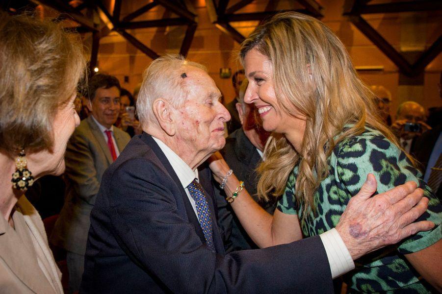 La reine Maxima des Pays-Bas avec ses parents à Buenos Aires, le 11 octobre 2016