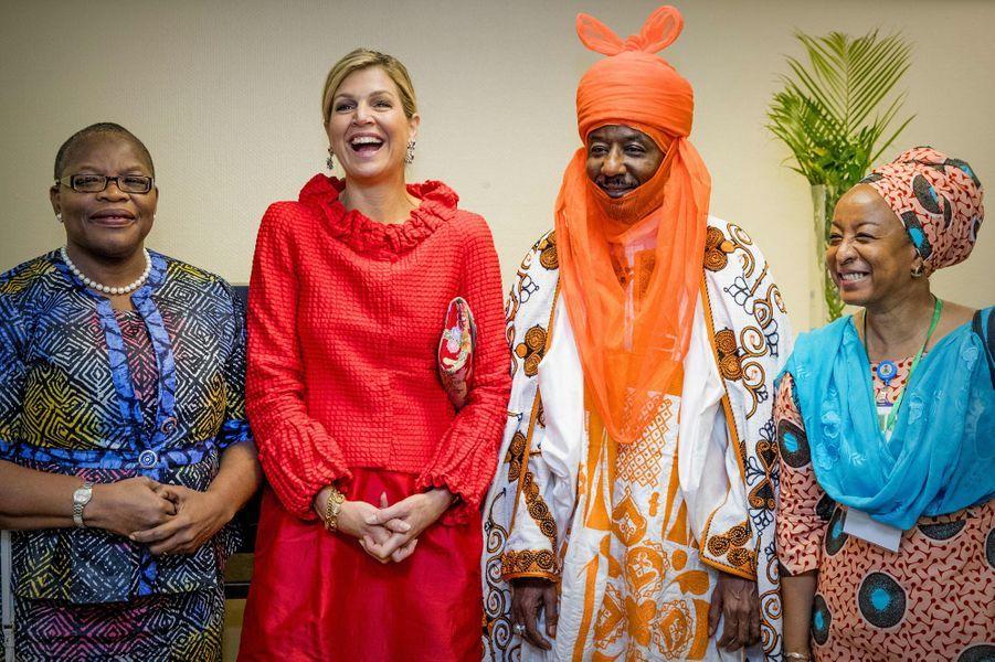La reine Maxima des Pays-Bas au Nigéria, le 2 novembre 2017