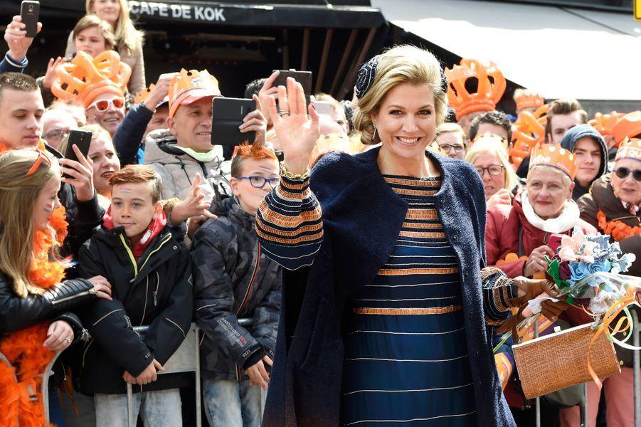 La reine Maxima des Pays-Bas à la Fête du Roi à Tilburg, le 27 avril 2017