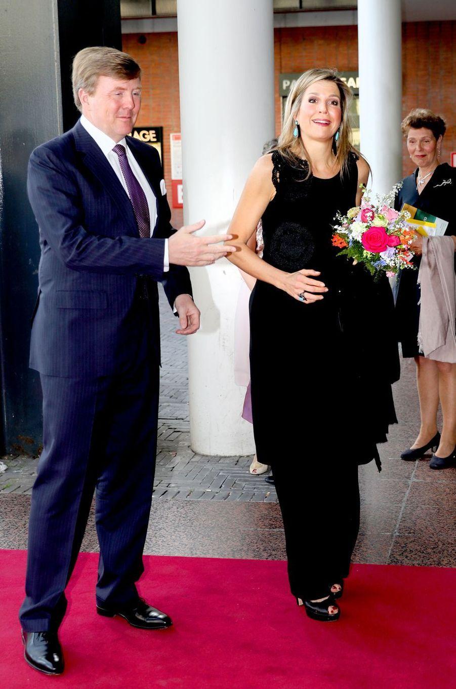 La reine Maxima et le roi Willem-Alexander des Pays-Bas à Amsterdam, le 18 avril 2018
