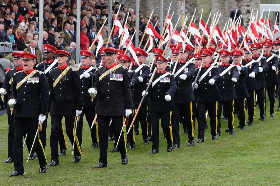 Parade militaire au château de Richmond, le 2 mai 2015