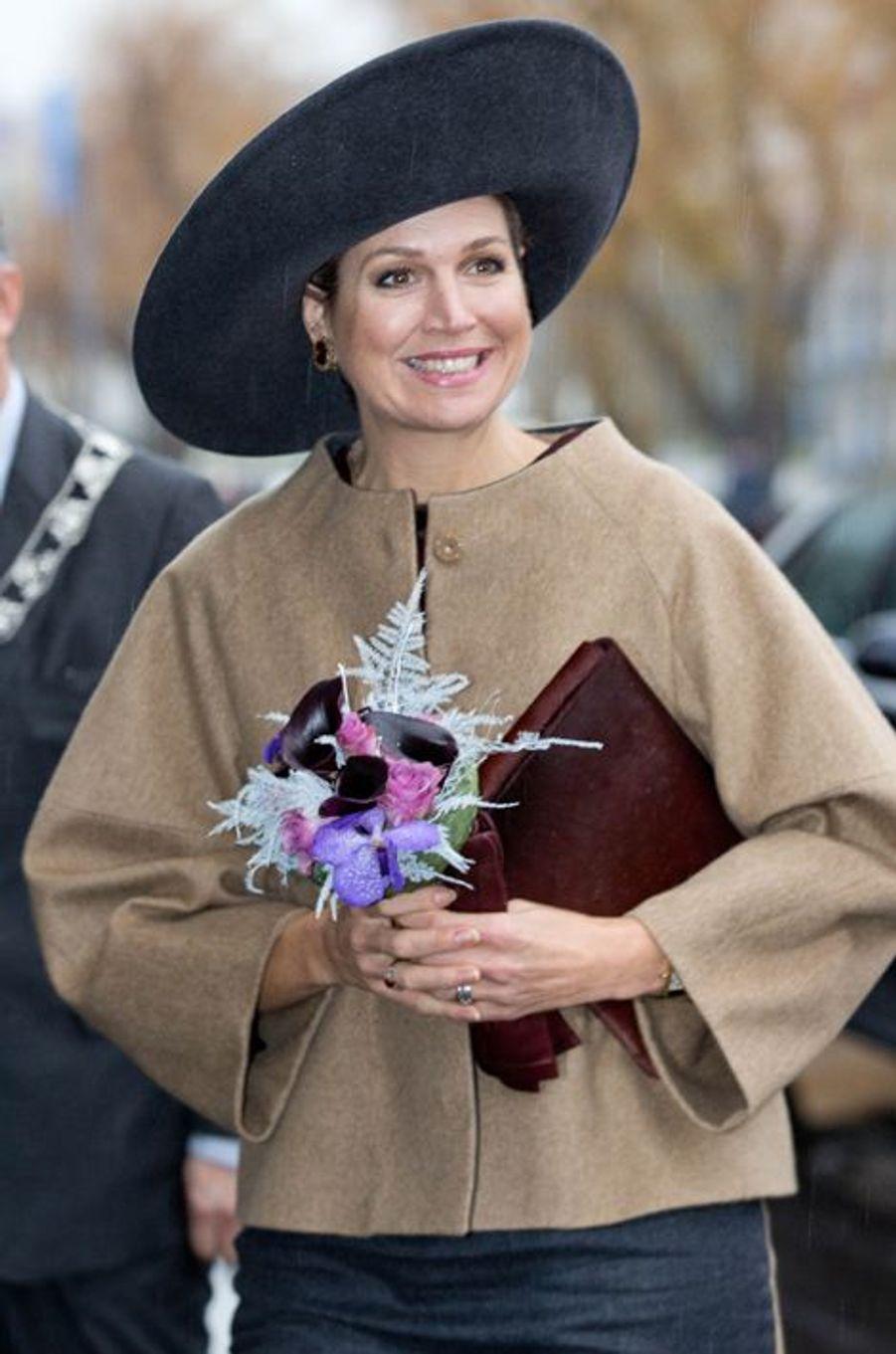 La reine Maxima des Pays-Bas à Rotterdam, le 8 décembre 2015