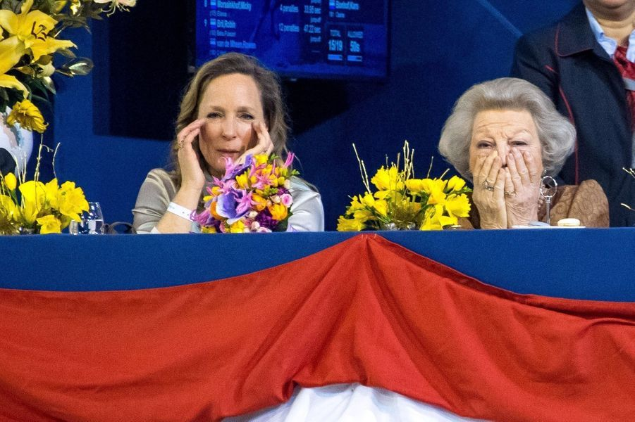 La princesse Margarita et l'ex-reine Beatrix des Pays-Bas à Amsterdam, le 26 janvier 2019