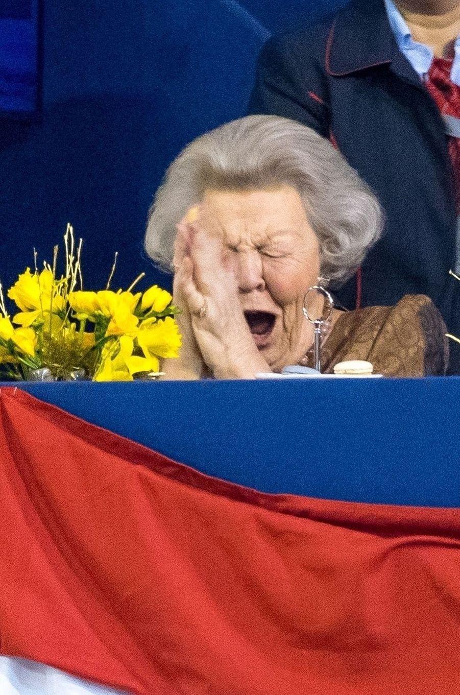 L'ex-reine Beatrix des Pays-Bas à Amsterdam, le 26 janvier 2019