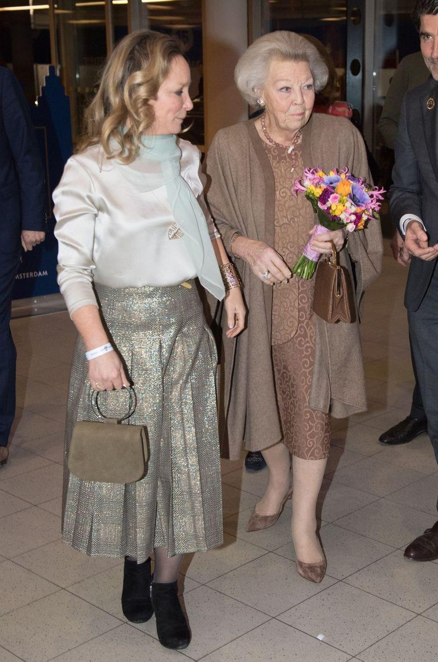 Les princesses Margarita de Bourbon-Parme et Beatrix des Pays-Bas à Amsterdam, le 26 janvier 2019