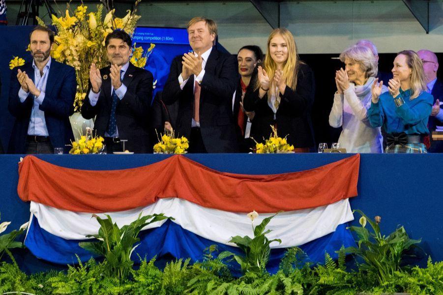 Les princesses Catharina-Amalia, Irene et Margarita et le roi Willem-Alexander des Pays-Bas à Amsterdam, le 27 janvier 2019