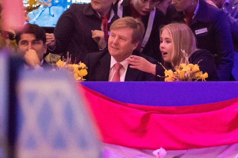 La princesse Catharina-Amalia et le roi Willem-Alexander des Pays-Bas à Amsterdam, le 27 janvier 2019