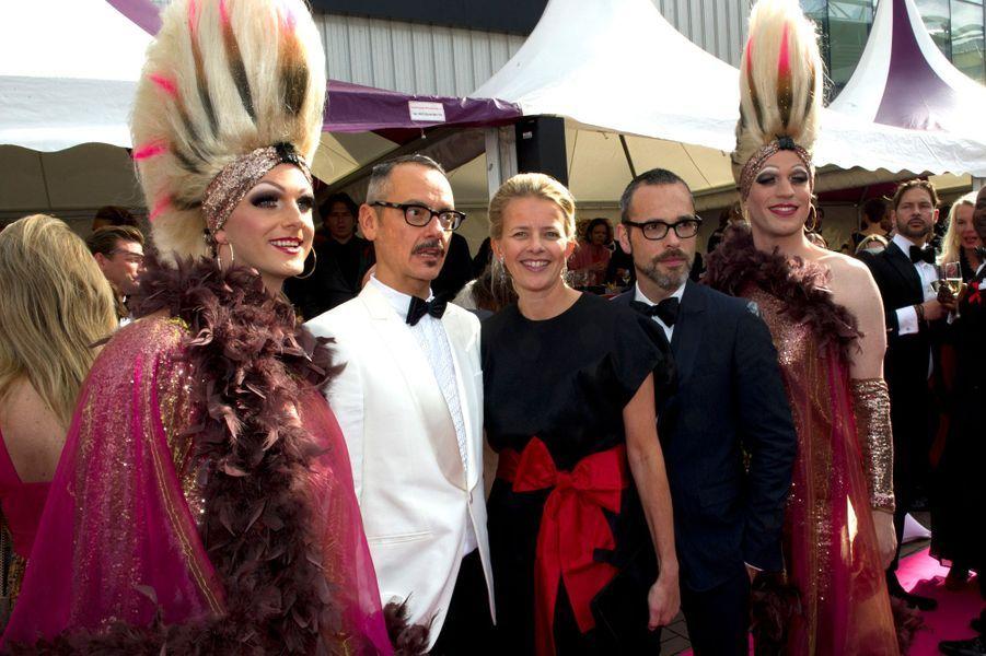 La princesse Mabel des Pays-Bas avec Viktor & Rolf à Amsterdam, le 30 mai 2015
