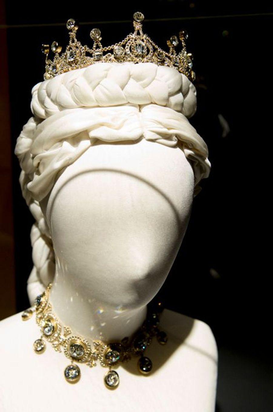 Exposition sur Sissi au palais Het Loo à Apeldoorn, le 9 avril 2015