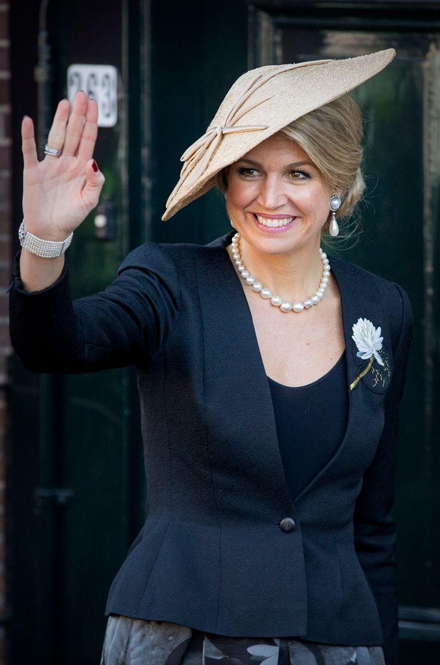 La reine Maxima des Pays-Bas, le 27 mars 2017