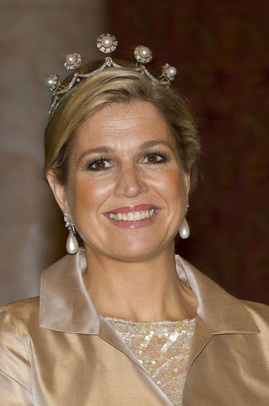 La princesse Maxima des Pays-Bas, le 22 janvier 2013