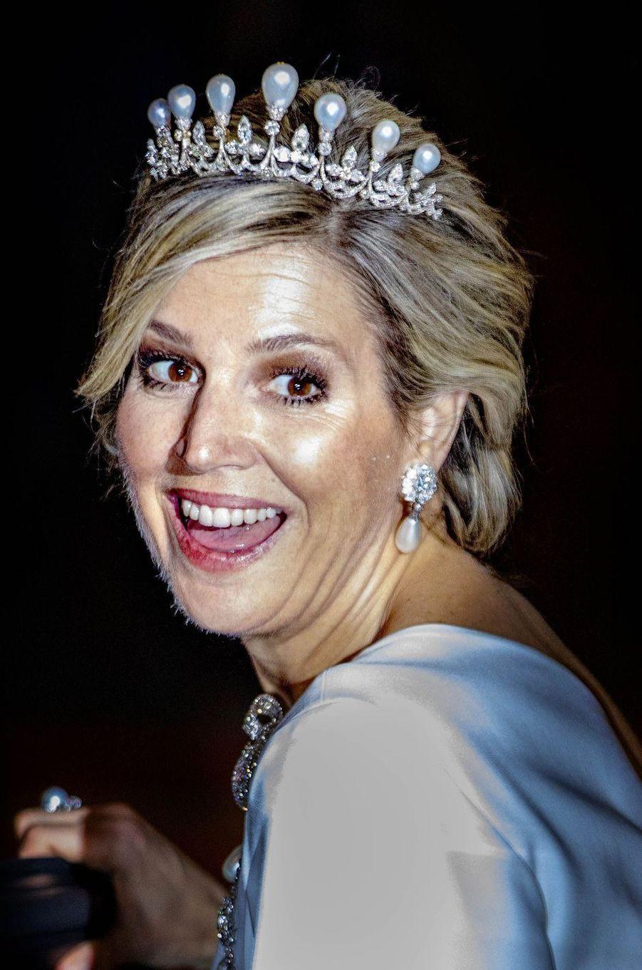 La reine Maxima des Pays-Bas, le 9 avril 2019