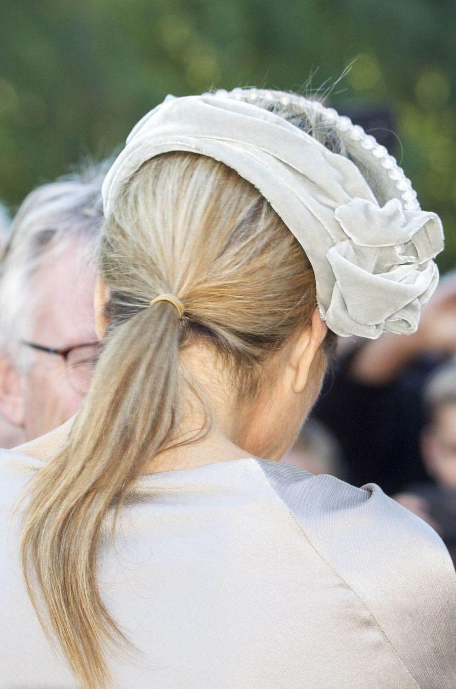 Le bandeau de la reine Maxima des Pays-Bas à Apeldoorn, le 5 octobre 2016