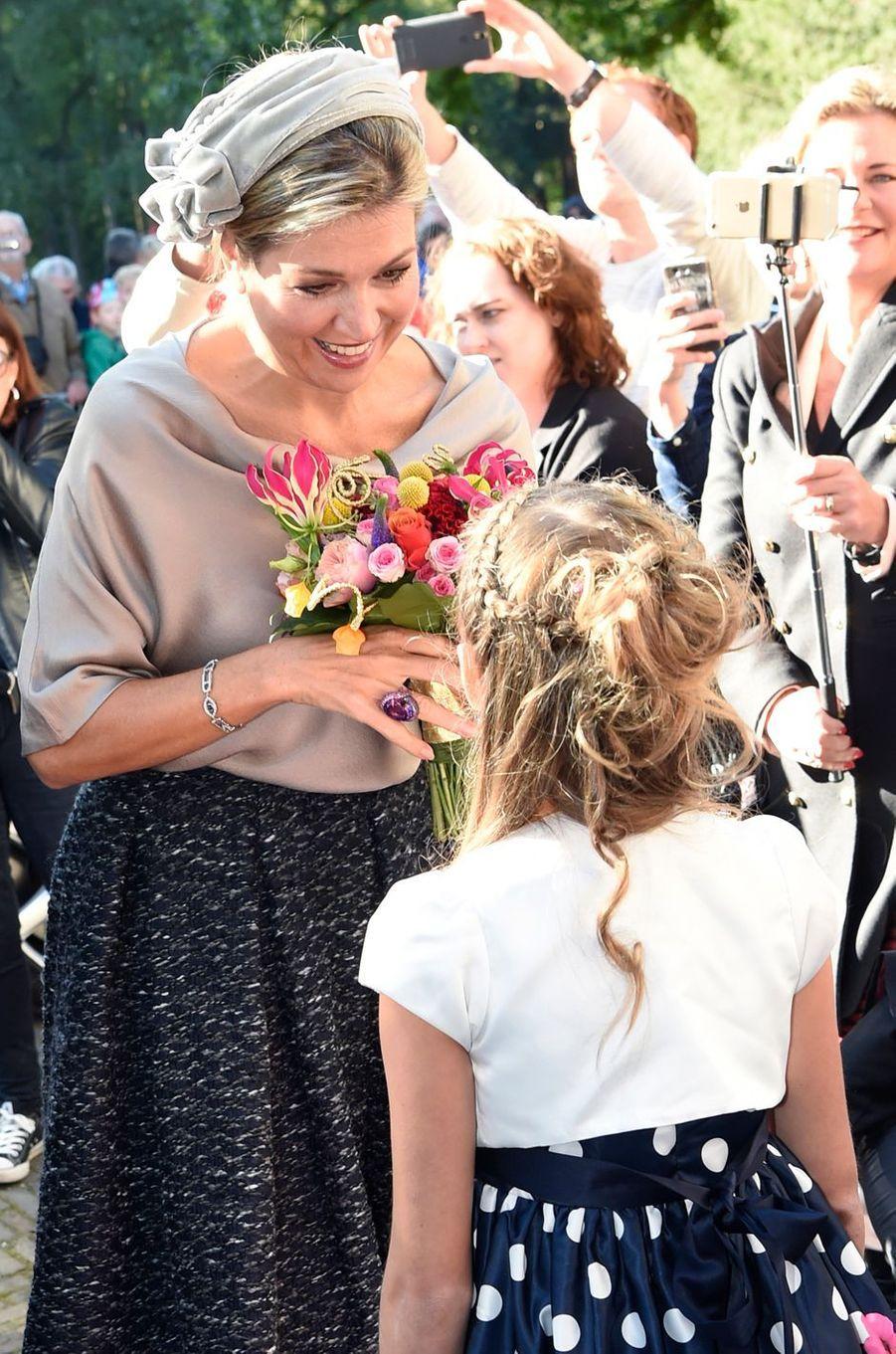 La reine Maxima des Pays-Bas à Apeldoorn, le 5 octobre 2016