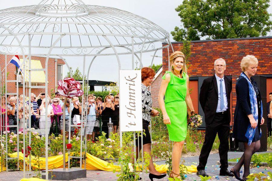 La reine Maxima des Pays-Bas à Nieuwolda, le 7 juillet 2015