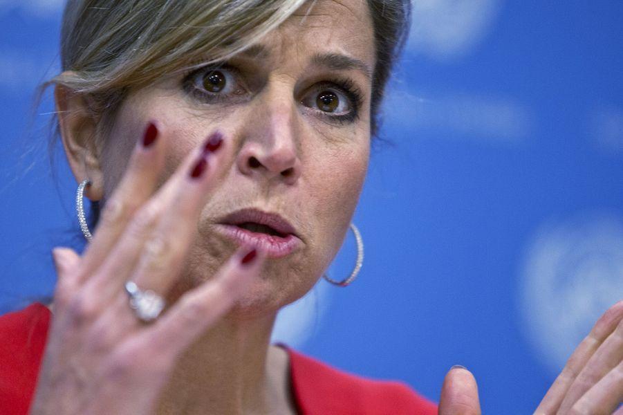 La reine Maxima des Pays-Bas à l'ONU, le 5 juin 2015