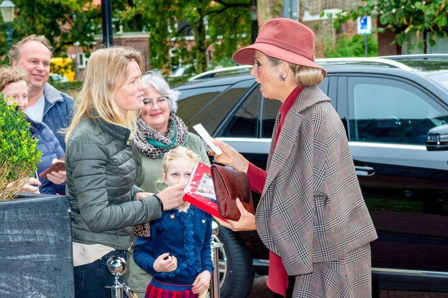 La reine Maxima des Pays-Bas à Amersfoort, le 9 octobre 2019