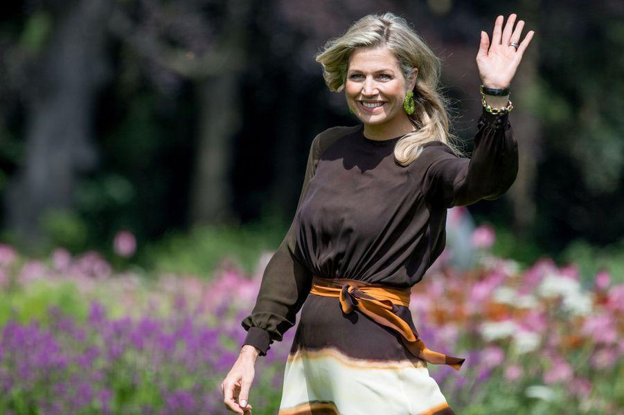 La reine Maxima des Pays-Bas à La Haye, le 19 juillet 2019
