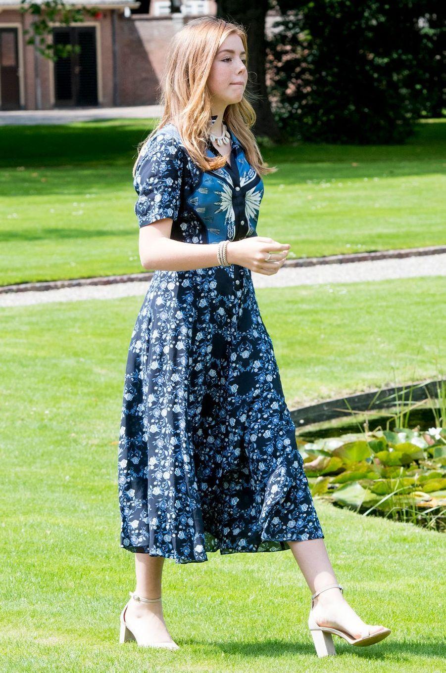 La princesse Alexia des Pays-Bas dans une robe Sandro à La Haye, le 19 juillet 2019
