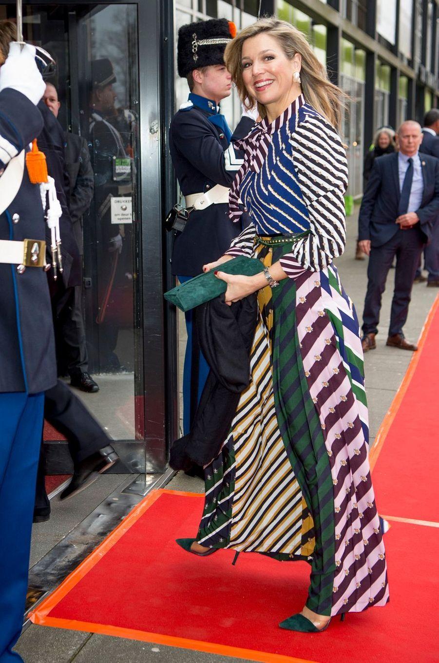 La reine Maxima des Pays-Bas à Groningen, le 10 avril 2018