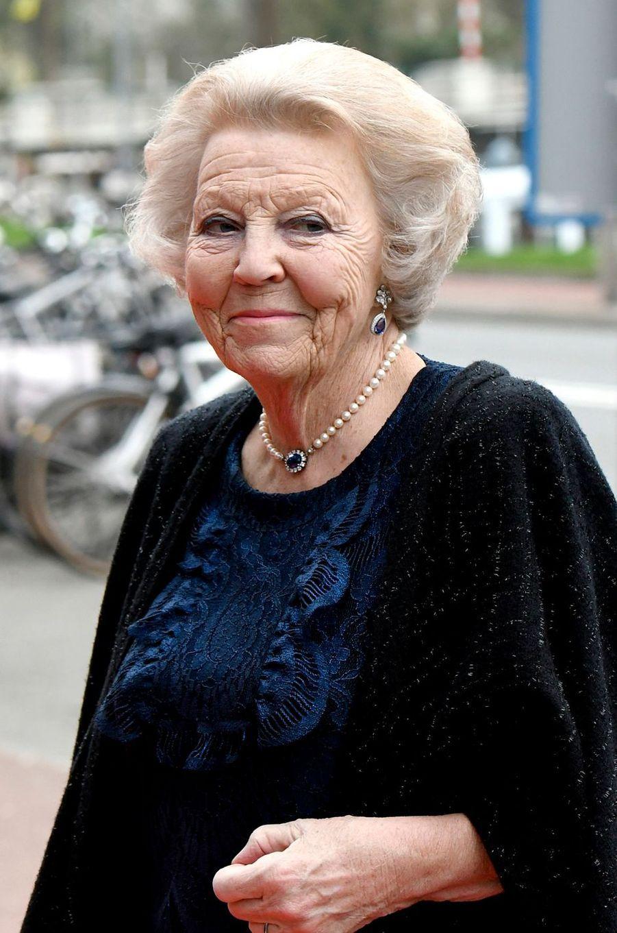 L'ex-reine Beatrix des Pays-Bas à Groningen, le 10 avril 2018
