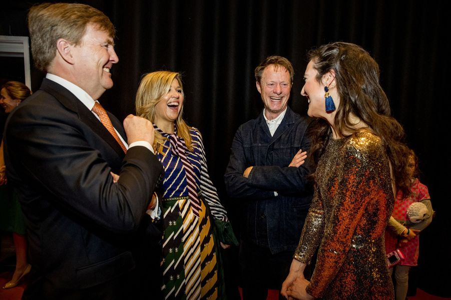 La reine Maxima et le roi Willem-Alexander des Pays-Bas à Groningen, le 10 avril 2018