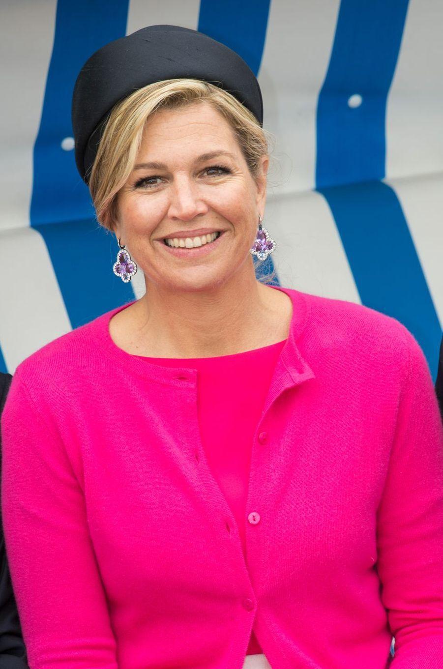 Les boucles d'oreille de la reine Maxima des Pays-Bas en Allemagne, le 20 mai 2019