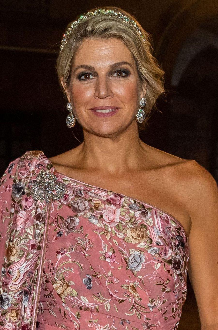 La reine Maxima des Pays-Bas en Inde, le 14 octobre 2019