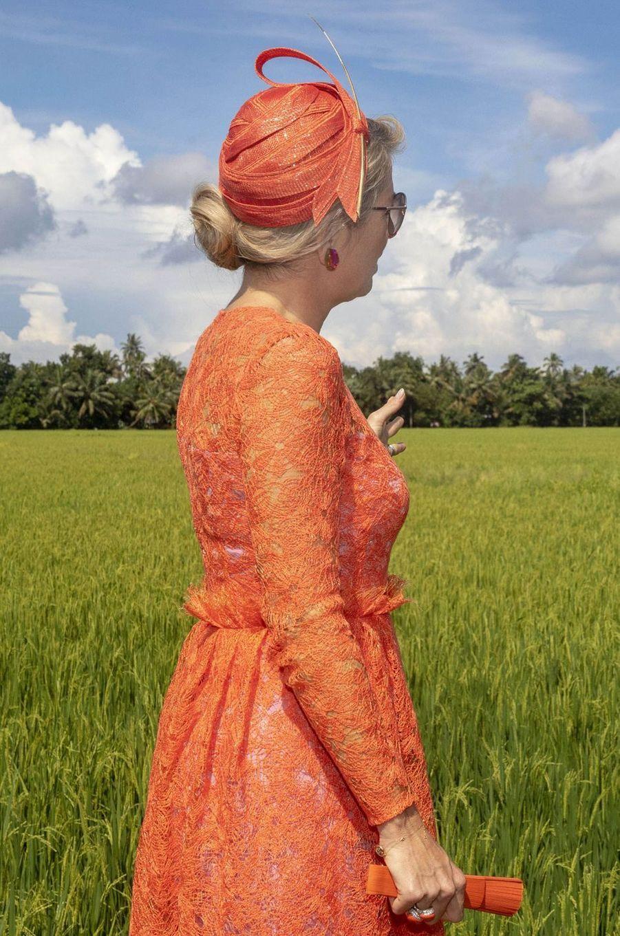 La reine Maxima des Pays-Bas en Inde, le 18 octobre 2019